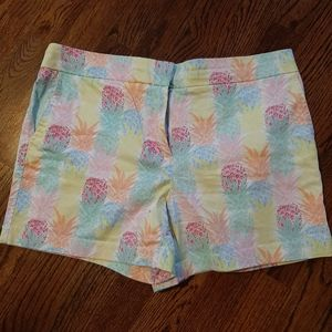 Short colorful pineapple print shorts